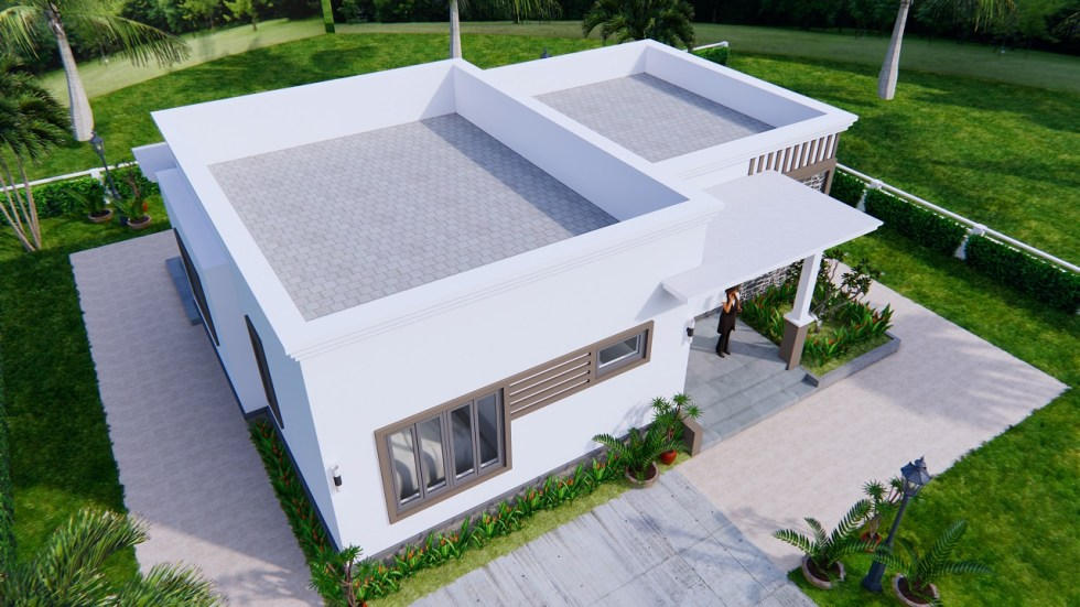 Online House Design 12x9 Meter 40x30 Feet 2 Beds 4