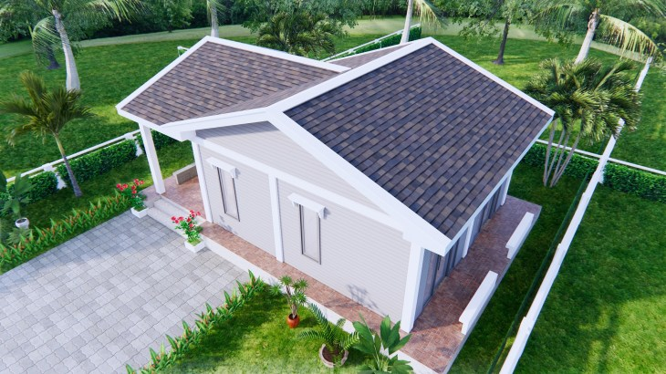 Small Cottage Designs 9x6 Meter 30x20 Feet 2 Beds 4