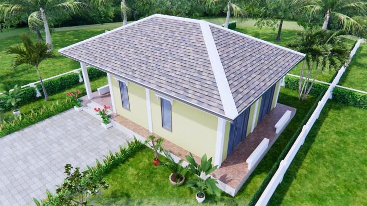 Small Farmhouse Plans 9x6 Meter 30x20 Feet 2 Beds 4