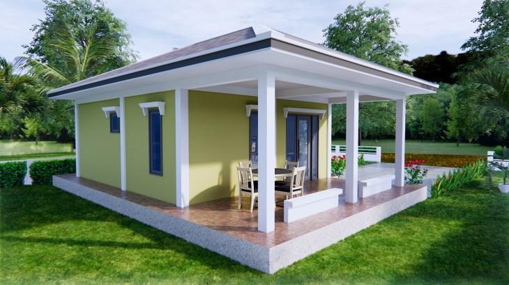 Small Farmhouse Plans 9x6 Meter 30x20 Feet 2 Beds 6