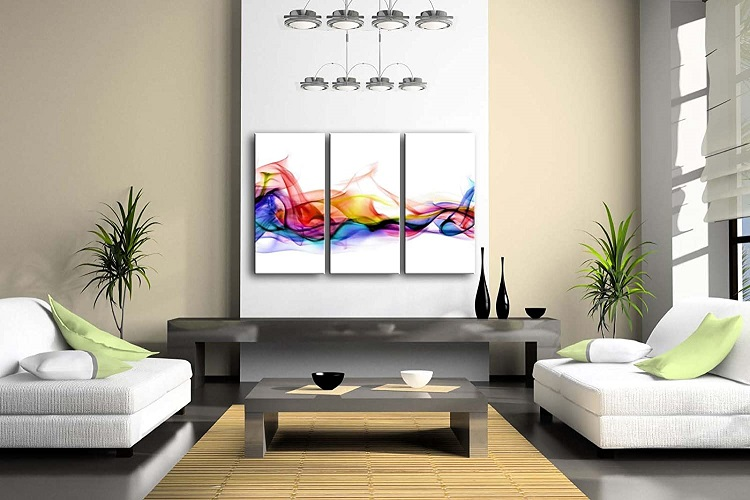 Color Abstract Smoke Colorful White Background