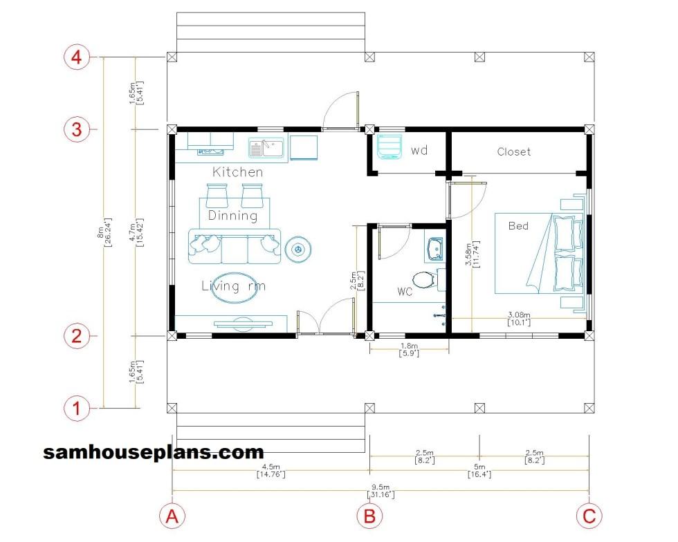 31x26 House Plans