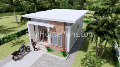 16x23 House Plans 5x7 Meters 2 Bedrooms Full Plans 3d 3