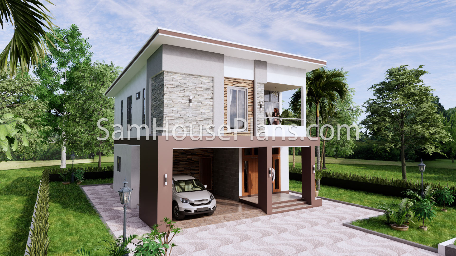27x40 House Plans 8x10 Meters 4 Bedrooms 3