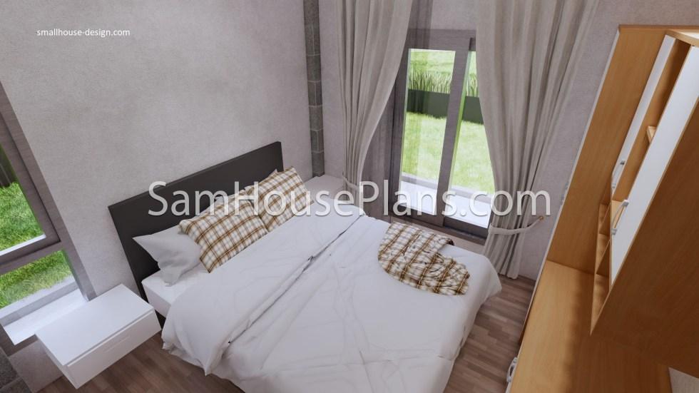 27x40 House Plans 8x10 Meters 4 Bedrooms Bedroom