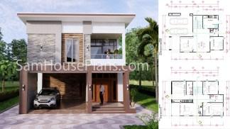 27x40 House Plans 8x10 Meters 4 Bedrooms