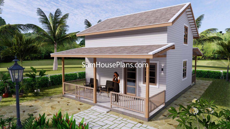 Simple House Design Plans 6x6 Meter 20x20 Feet 3d 2