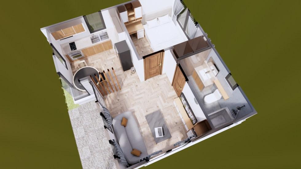 Small House Plans 22x20 Feet 6.5x6 Meter PDF Plans