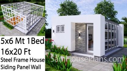 Tiny House Plans 5x6 Build From Steel Frame Siding Panel 16x20 Feet