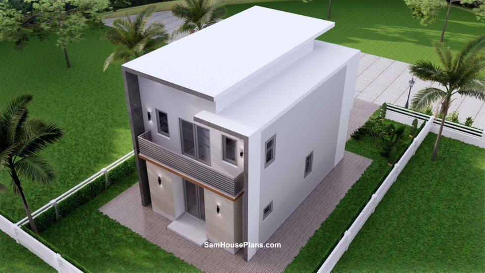 20x30 Small House Plan 6x8.5m PDF Full Plans Exterior 8