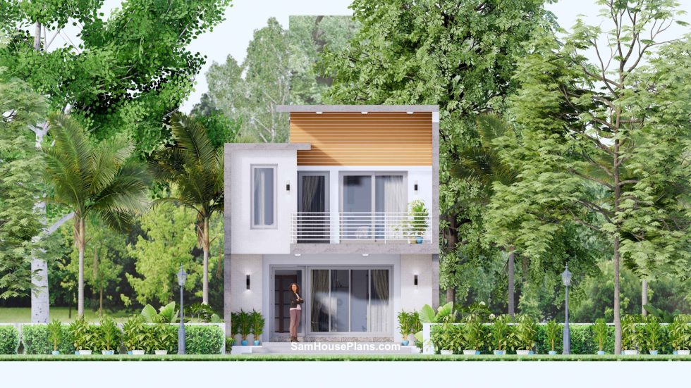 20x30 Small House Plan 6x8.5m PDF Full Plans Front elevation