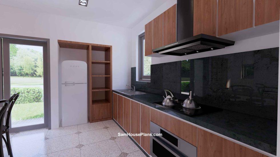20x30 Small House Plan 6x8.5m PDF Full Plans Interior Kitchen 1