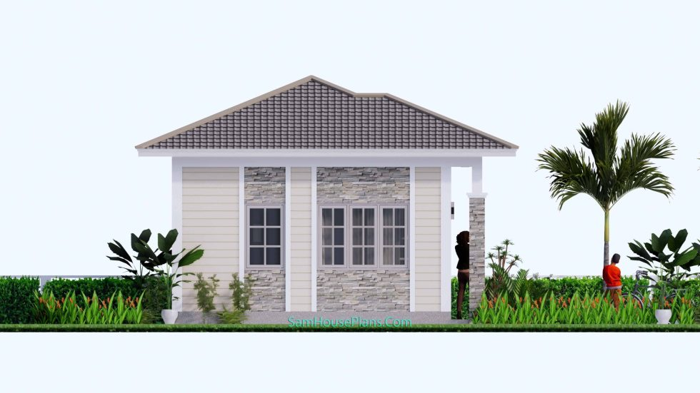 23x19 Small House Design 7x6 M PDF Full Plans Left