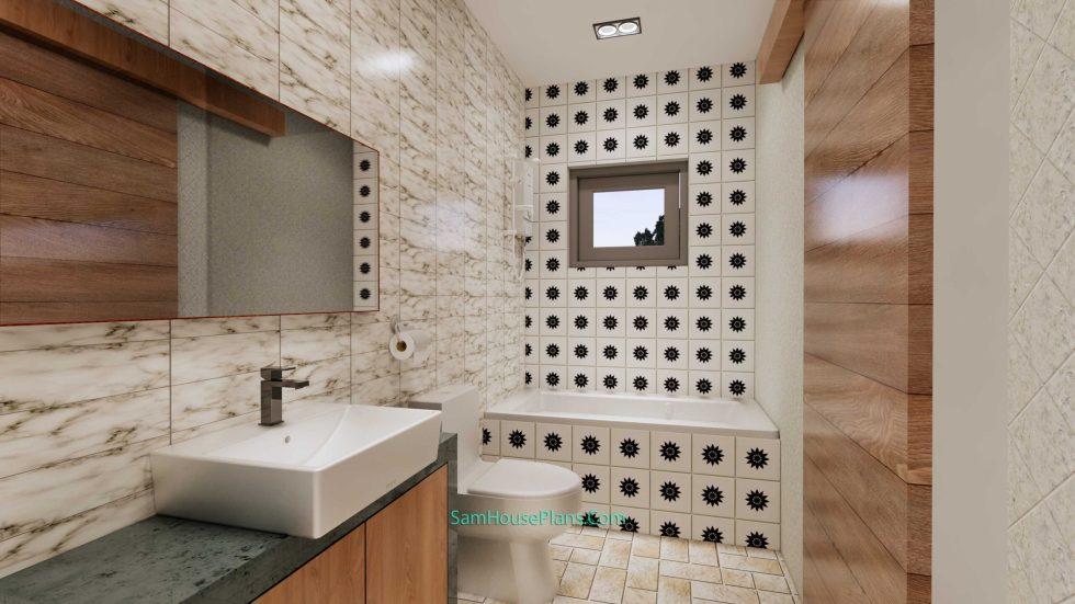 20x28 House Design Plan 6x8.5m PDF Full Plans Interior Bathroom