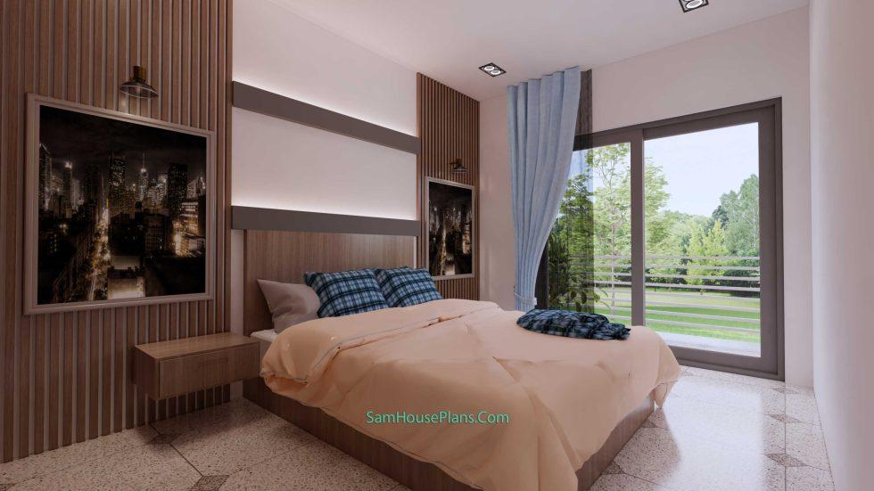 20x28 House Design Plan 6x8.5m PDF Full Plans Interior Bedroom 1