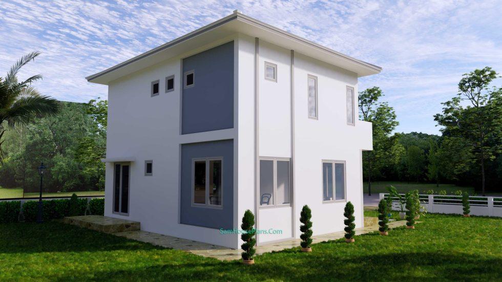 House Plans Design 8.5X6.5 M 3 Bedrooms PDF Full Plans 5