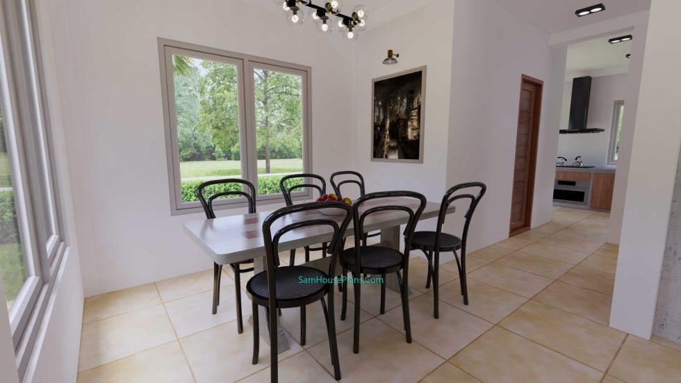 House Plans Design 8.5X6.5 M 3 Bedrooms PDF Full Plans Interior Dining room