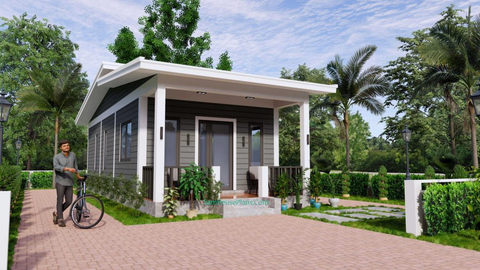 4.5x12 Small House Design 2 Bedrooms Shed Roof 1