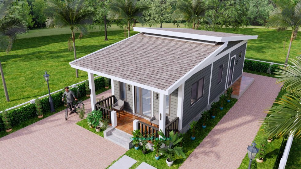 4.5x12 Small House Design 2 Bedrooms Shed Roof 4