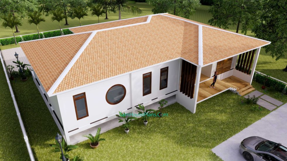House Design Plan 17x13 with 3 Bedrooms 53x43 Feet 4