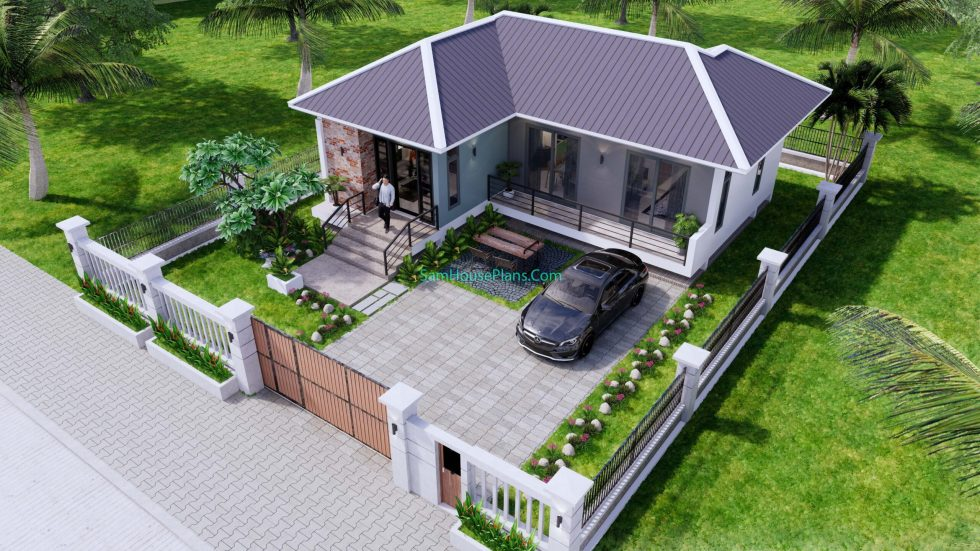 House Design Plans 11x10.5 Hip Roof 2 Bedrooms 13