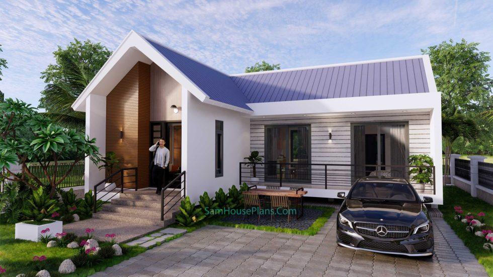 Modern House Design Plan 11x9 meter 3 Bedrooms 1