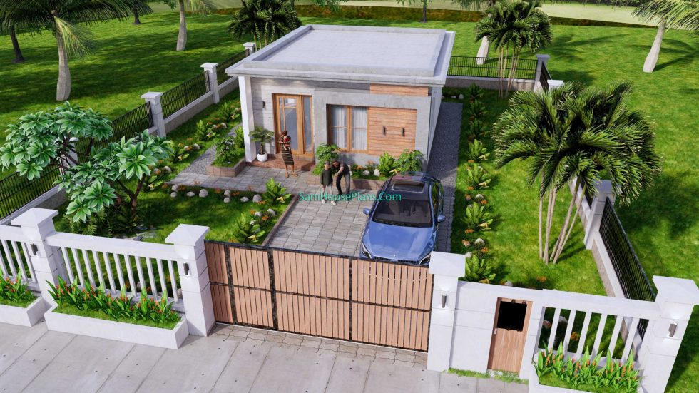 Small House Design 6x8 with 2 Beds 48 sqm 3d 11