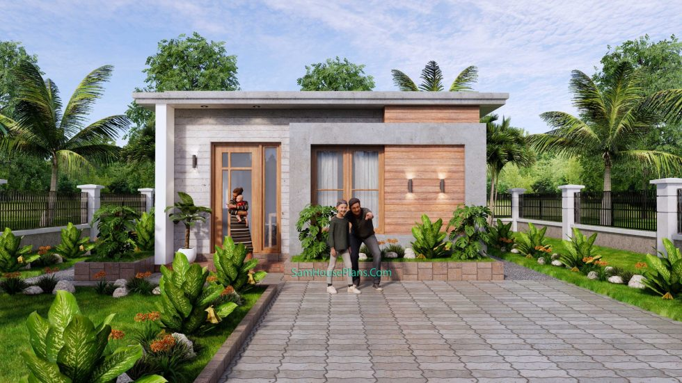 Small House Plans 6x8m Simple House Plan 48 sqm