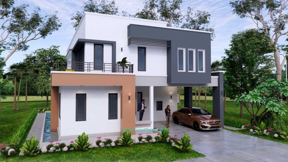 House Design Plan 11x15 Meter 5 Bedrooms 3