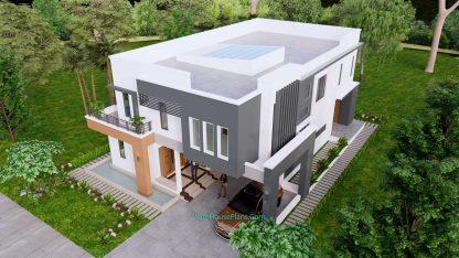 House Design Plan 11x15 Meter 5 Bedrooms 5