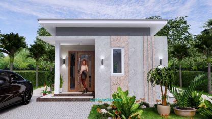 Small House Plan 4.5x9 Meter One Bedroom PDF Plan 2