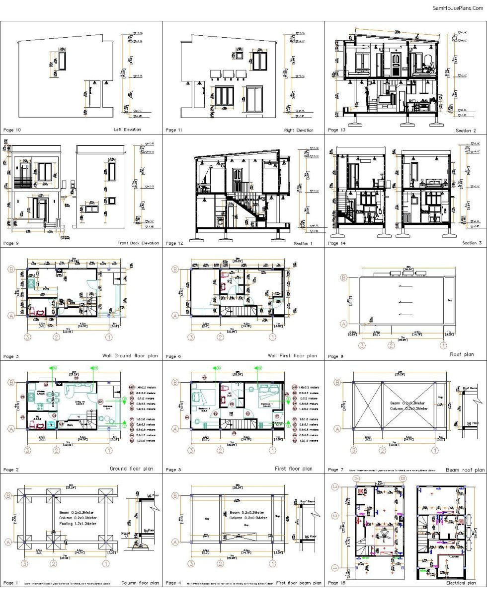 Small House Plan 4x7 M 3d bathroom all layout plan