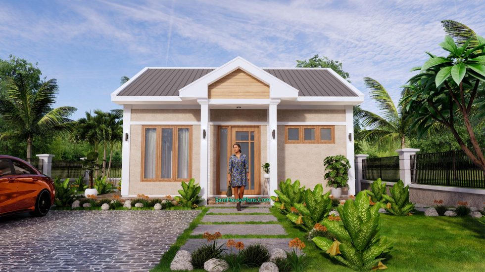 Tiny House Plans 7x7m One Bedrooms Full Pdf Free Plans 3d 2