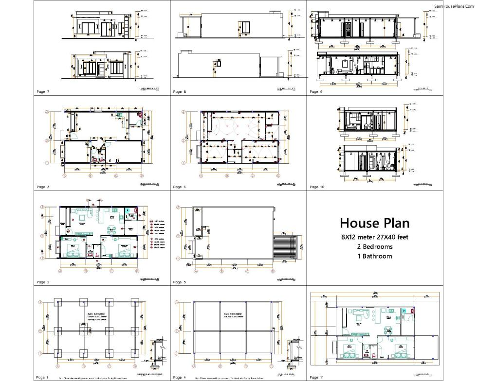 all layout Plans 8x12 terrace