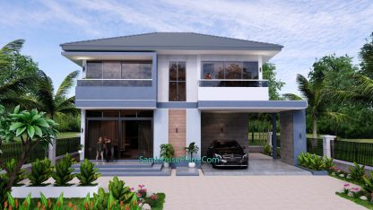 Small House Design 11.8x7.5 meters with 3 Beds Full PDF Plan 1
