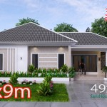 House Design Plan 15x9 M with 3 Beds PDF Full Plan