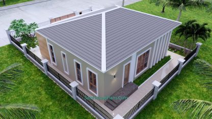 Modern House Plan 11x11 Meter 36x36 Feet 3 Beds PDF Plan 3d 10