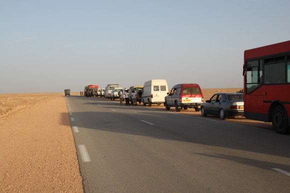 Convoy and armed escort from the Tindouf airport to the Dakhla camp.