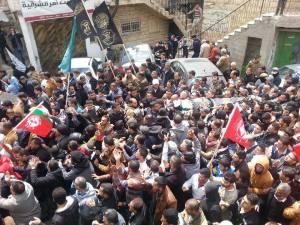 Jaafar Awad's funeral in Beit Ummar, April 10