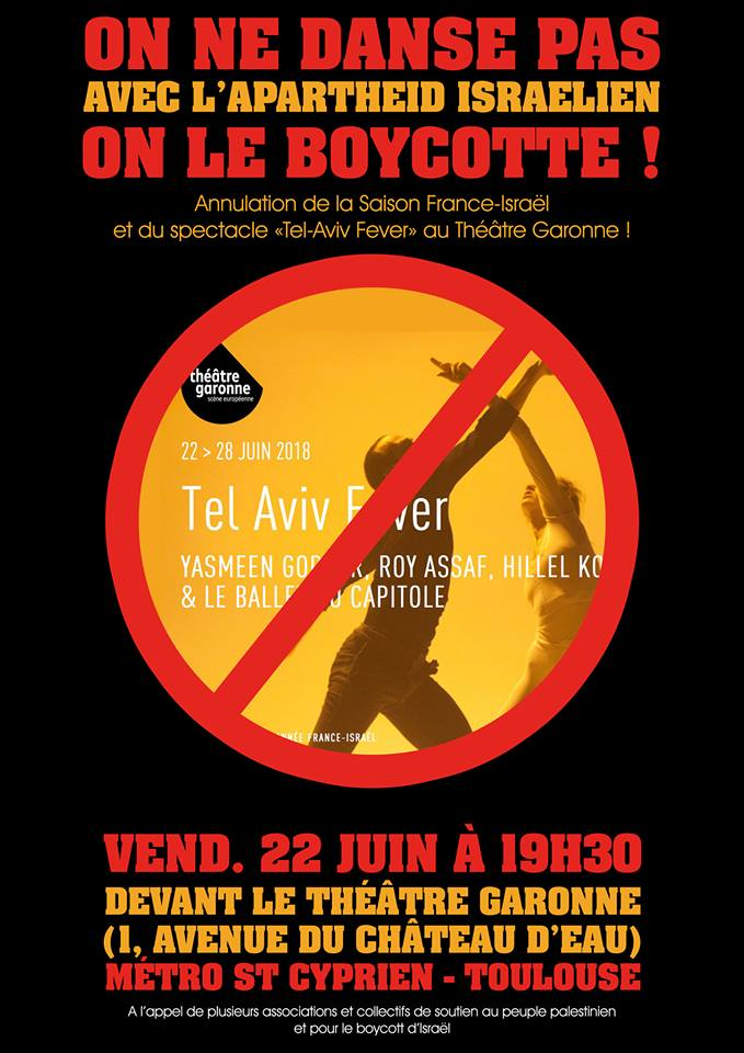 Toulouse: Don\'t dance with Israeli apartheid!