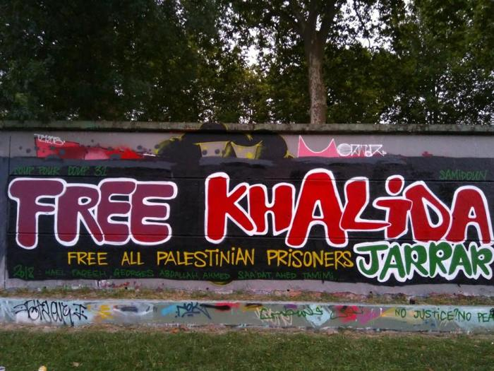 Graffiti In France Urging Khalidas Release Photo Coup Pour Coup