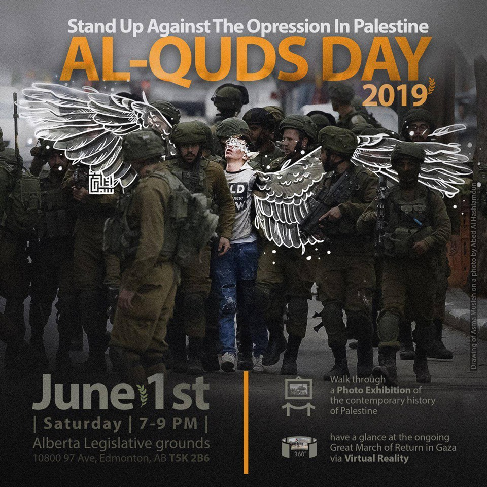 1 June, Edmonton: Al-Quds Day 2019