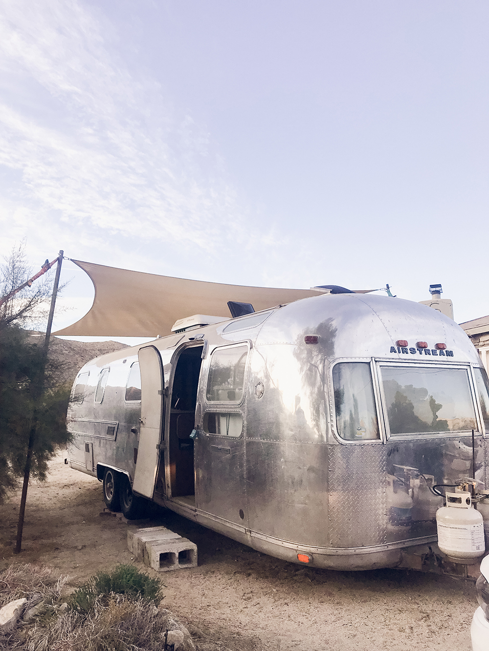 Glamping in an Airstream in the Southern California Desert