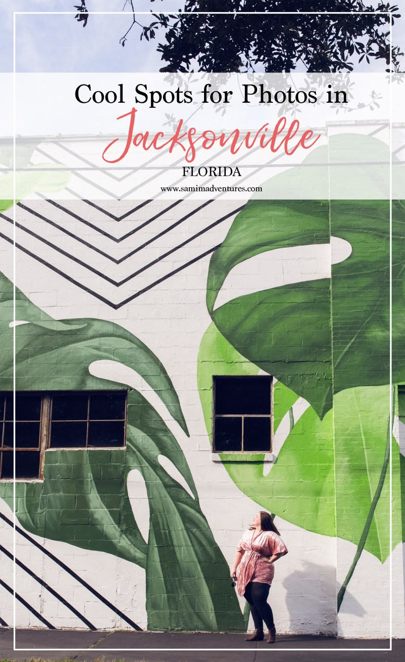 Are you planning a trip to the beautiful beach town of Jacksonville, Florida? Check out my Jacksonville Guide that includes the best spots for photos in Jacksonville such as murals of Jacksonville, The Florida Theater of Jacksonville, and Main Street Bridge of Jacksonville. #Jacksonville #JacksonvilleFlorida #JacksonvilleTravel  Finding the perfect spot for photos in Jacksonville, Florida!