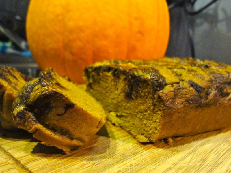 Paleo Chocolate Pumpkin Bread