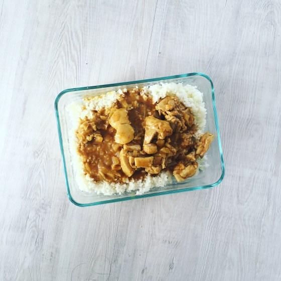 GF DF Paleo Butter Chicken with Cauliflower Rice