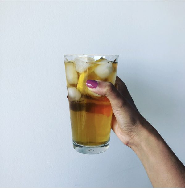 Iced Lemon Spearmint Tea Sweetened with Inositol