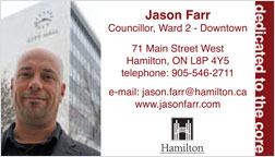 Hamilton City Councillor Jason Farr - Ward 2 - Downtown