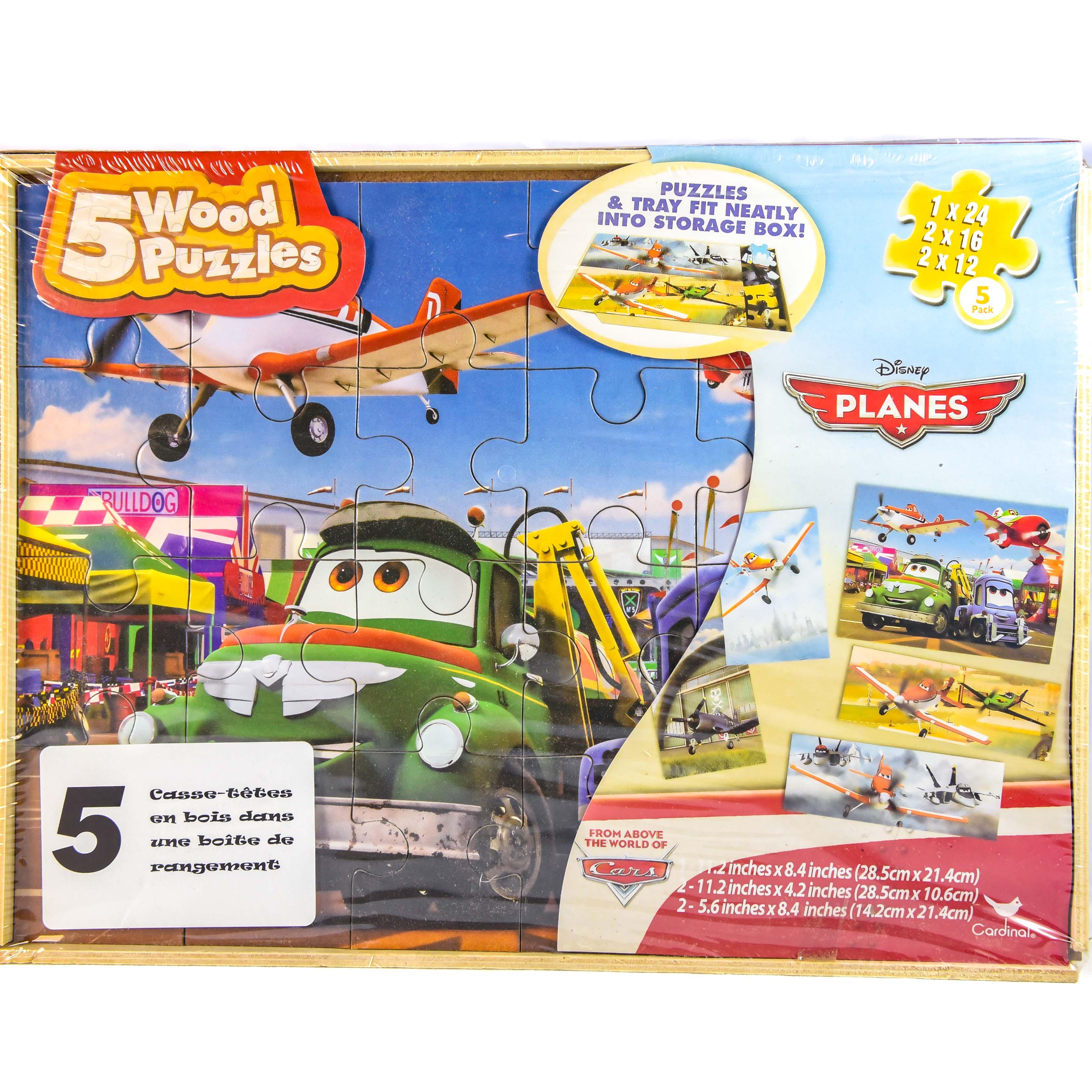 disney cars 5 wood puzzle set