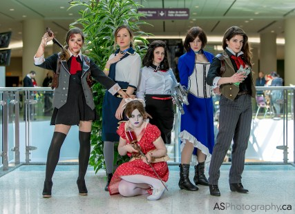 Sam Maggs Rule 63 Femme Booker Cosplay Bioshock Infinite with Bioshock Group